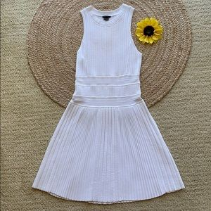 NWOT Theory high neck ribbed white dress
